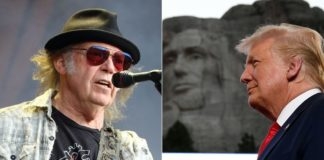 Rock musician Neil Young is not happy with POTUS Donald Trump using his songs at Mount Rushmore