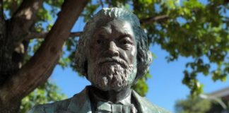 A Frederick Douglass' statue in Rochester, NY, has been torn down