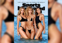 Kate Bock, Jasmine Sanders, and Olivia Culpo posing during the Sports Illustrated Swimsuit edition cover shoot in. Denpassar, Bali.Yu Tsai/Sports Illustrated/Getty Images