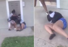 Disturbing video shows teens beating pregnant mom, kicking toddler