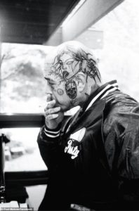 Post Malone brand new finished tattoos on his shaved head