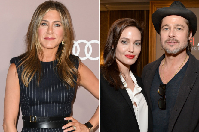 Brad Pitt's marriage portrayal to Angelina Jolie may have fueled Jennifer Aniston (left).Getty Images for AFI; Getty Images