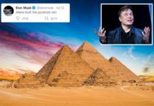 Elon Musk tweeted the pyramids were built by aliens