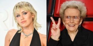 Miley Cyrus pays tribute to her grandmother, who died at age 85.