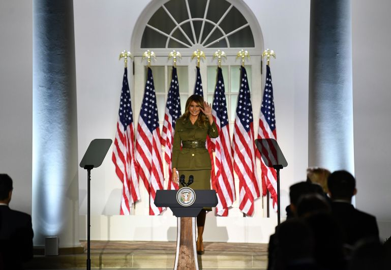 Melania Trump's RNC outfit turned everyone's heads - Real Talk Time