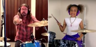 Dave Grohl accepted 10-year-old beast drummer Nandi Bushell's challenge
