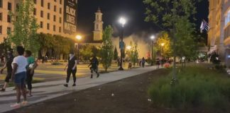BLM protesters clash with cops in 2nd violent protests night