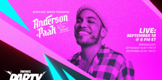 Anderson .Paak will perform in Fortnite Spotlight concerts