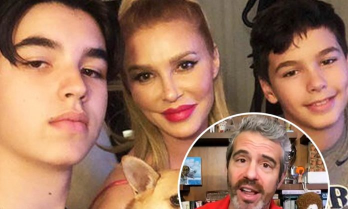 Brandi Glanville's sons face off with Andy Cohen