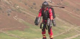 Jet suit for paramedics rapid response