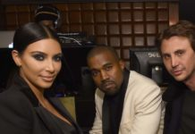 Jonathan Cheban, next to Kim Kardashian & Kanye West