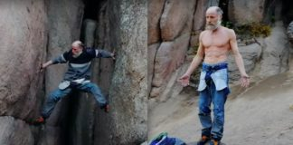 70-year-old climber descends mountain head-first without ropes
