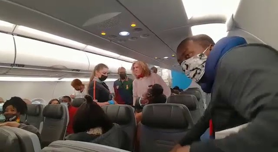 Burger King crown man on JetBlue flight goes totally off yelling N-word at mostly black passengers in plane