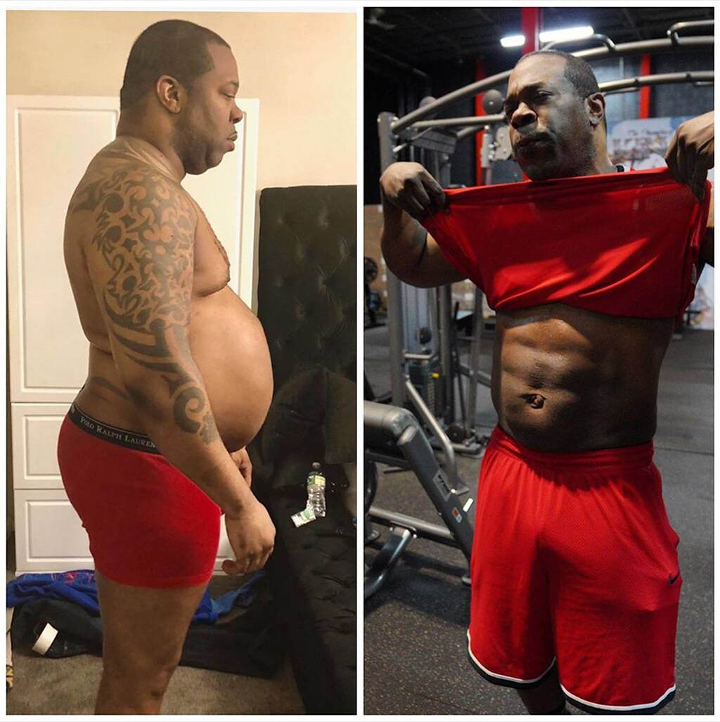 Busta Rhymes shows off before and after pics in incredible body transformation