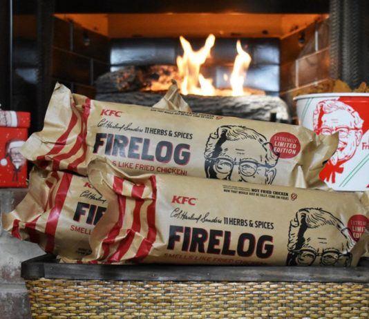 KFC firelog is back to leave your house smelling like KFC chicken. And, honestly, don't you want that?
