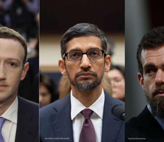 Facebook, Google & Twiiter CEOs testify before the Senate