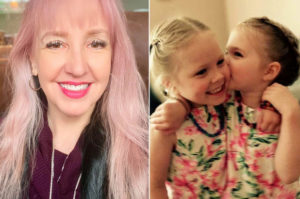 Michele Boudreau Deegan and her twin daughtersFacebook