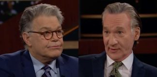 "Al Franken was interviewed by Bill Maher in what Twitter users called it ""awkward'"