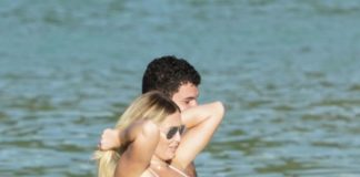 Dustin Johnson and Paulina Gretzky having their vacation time at St. Barts