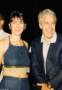 Ghsilaine Maxwell and pal Jeffrey Epstein