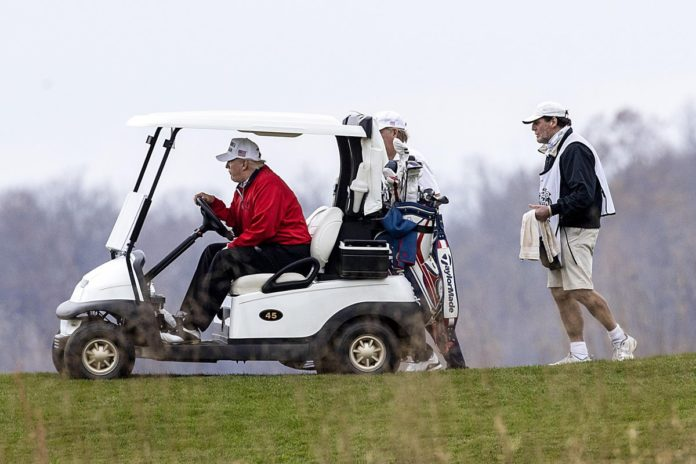 President Donald Trump skips G20 COVID-19 meeting with world leaders to play golf
