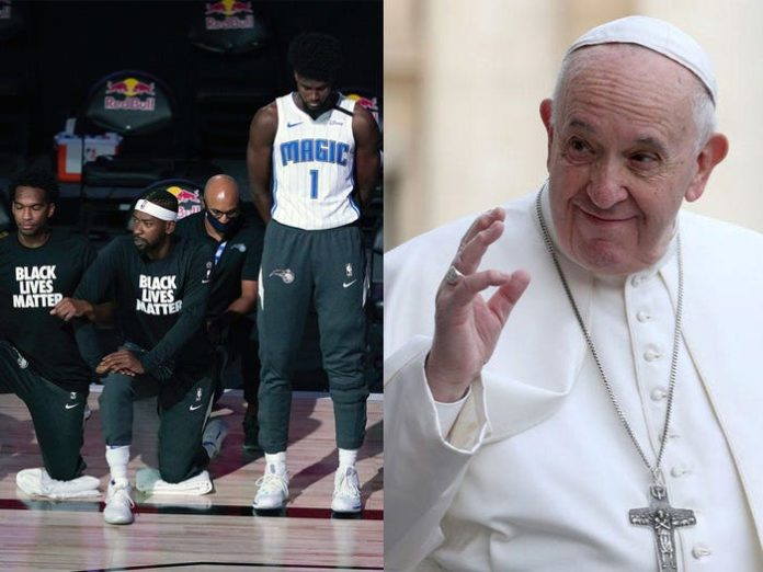 Pope Francis meet with NBA players at Vatican City to discuss social justice
