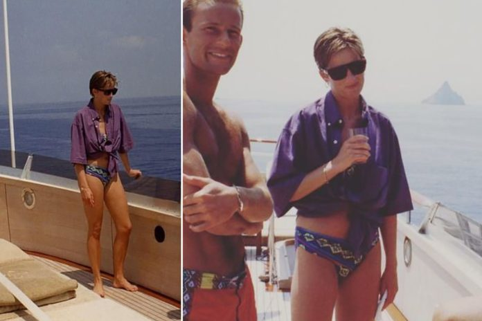 Princess Diana's never-before-seen pictures on a yacht with her fashion designer friends