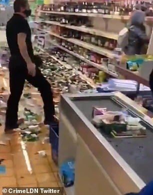 The trail of booze destoyed behind the crazy UK woman