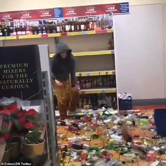 The woman while wreaking havoc in the store