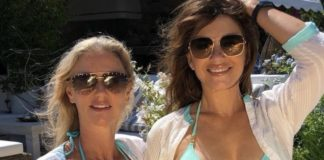 Elizabeth Hurley and older sister Kate Cuman stuns everyone with her matching bikinis