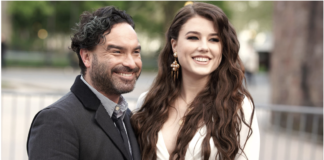 Johnny Galecki and Alaina Meyer Getty Images