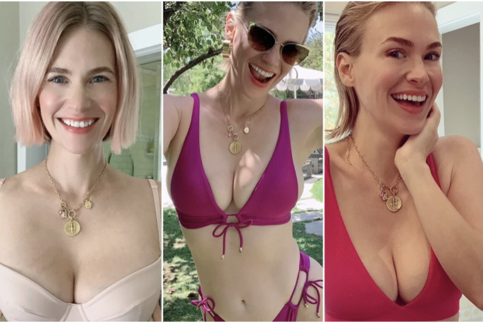 January Jones defended her bikini-clad Instagram posts after a tabloid found them too hot to handle. Instagram