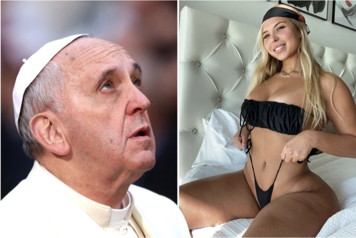 Pope Francis and Natalia Garibotto Getty Images ; Instagram