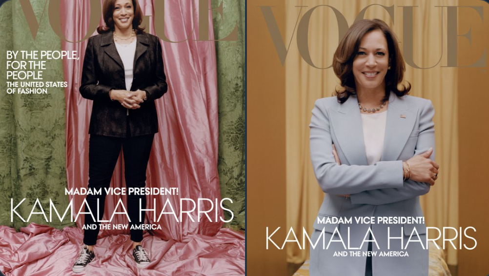 Kamala Harris on the cover of Vogue Tyler Mitchell for Vogue Twitter Screenshot