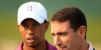 Tiger Woods and his agent Mark Steinberg