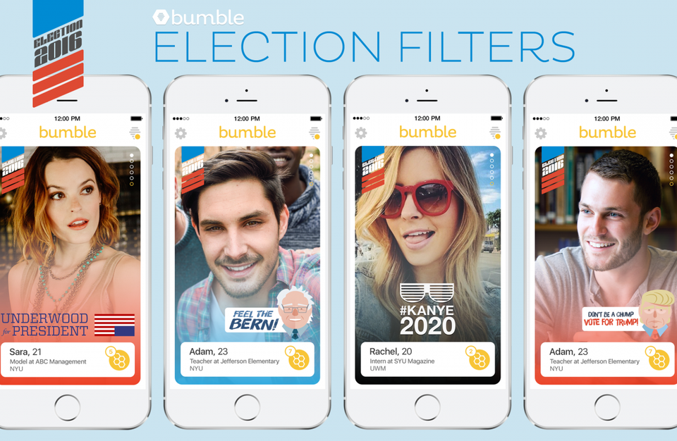 Bumble deactivated the political filters on its platform