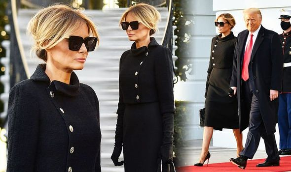 Melania Trump at the White House boasting her classy and pricey dress