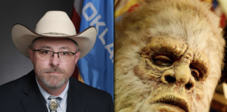 The license Oklahoma Rep. Justin Humphrey proposes would only allow the trapping and release of the fictitious hairy ape-like beast, not its killing.