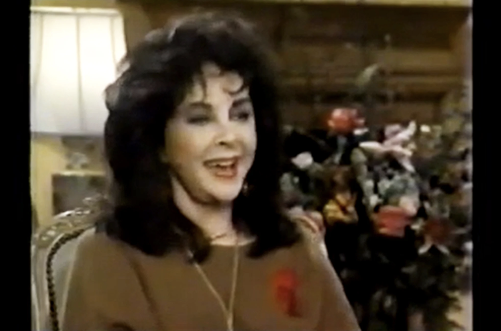 Elizabeth Taylor speaks during an interview with Larry King.