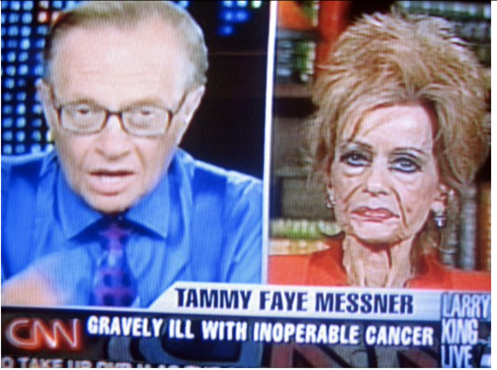Tammy Faye Messner died the day after a 2007 interview with Larry King.