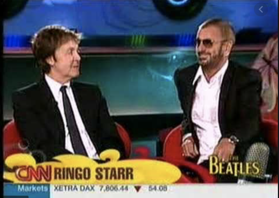 Paul McCartney and Ringo Starr were interviewed by Larry King in 2007.