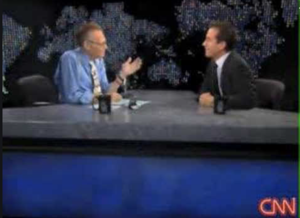 """Larry King interviews comedian Jerry Seinfeld on """"Larry King Live."""""""