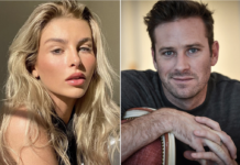 "Paige Lorenze, a 22-year-old college student who dated Armie Hammer for four months last year, claims the actor carved an ""A"" into her body. Instagram; Getty Images"