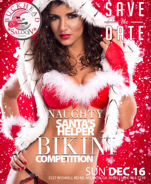 Naughty Santas Helper Bikini Competition