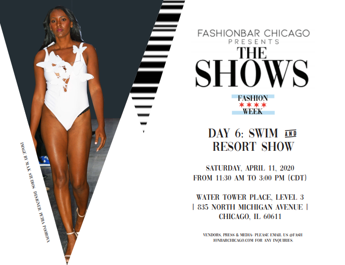 Chicago Fashion Week Powered by Fashion Bar:  THE SHOWS APRIL 2020