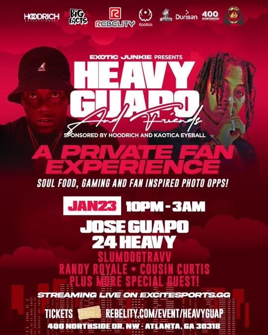 "Exotic Junkies presents ""Heavy Guap and Friends"""