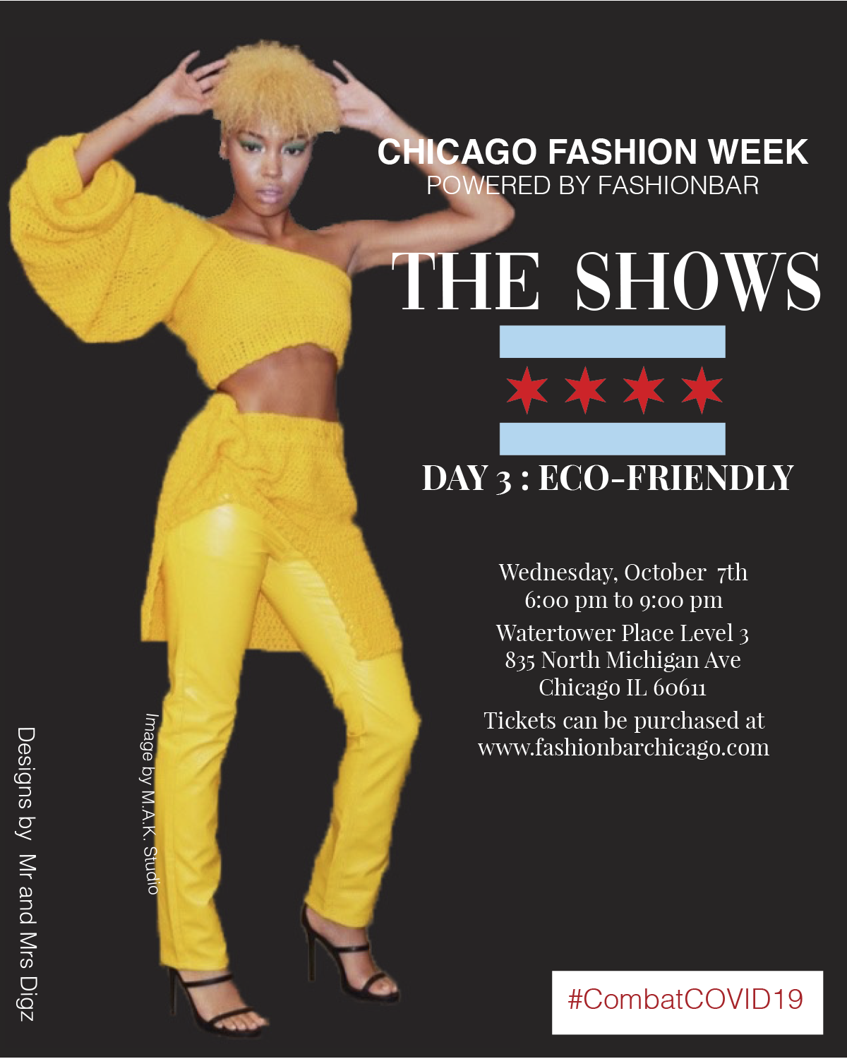 Chicago Fashion Week Powered by Fashion Bar:  THE SHOWS UPDATE COMING SOON