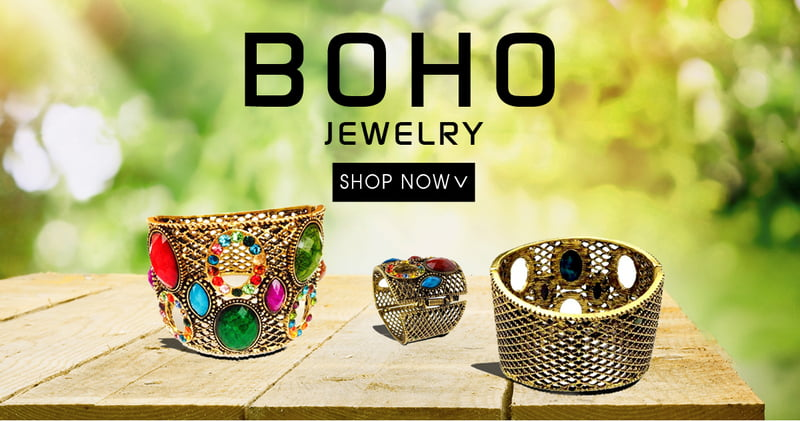 Boho Jewelry is colorful and chic