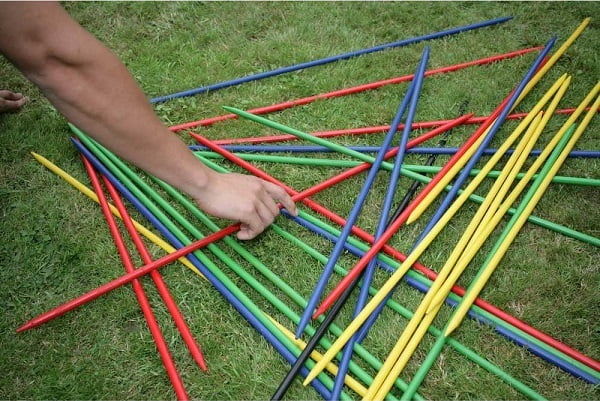 Giant pick up sticks to play in the yard.