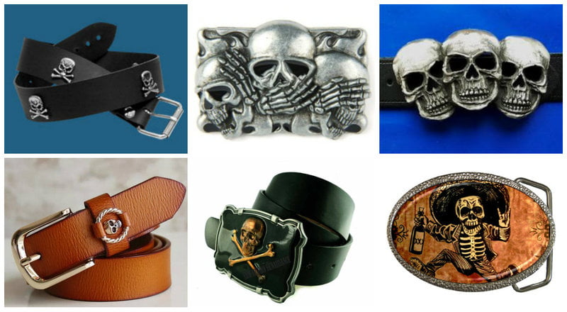 Skull belts are a fun and unexpected accessory